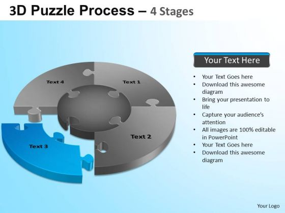 PowerPoint Template Marketing Jigsaw Pie Chart Ppt Slide Designs