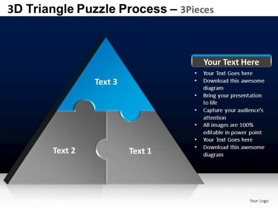 PowerPoint Template Marketing Triangle Puzzle Ppt Designs