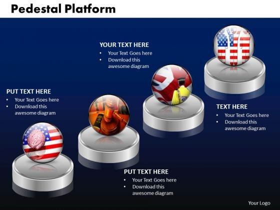 PowerPoint Template Pedestal Platform Graphic Ppt Slides