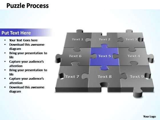 PowerPoint Template Process 3d Puzzle Process Ppt Slide