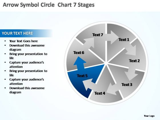 PowerPoint Template Process Circle Chart Ppt Backgrounds