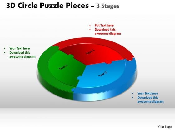 PowerPoint Template Process Circle Puzzle Ppt Backgrounds