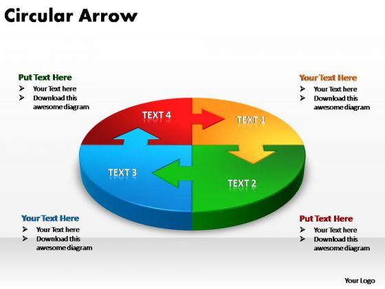 PowerPoint Template Process Circular Arrow Ppt Theme