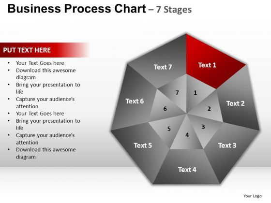 PowerPoint Template Process Circular Quadrant Ppt Presentation