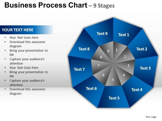 PowerPoint Template Process Circular Quadrant Ppt Themes