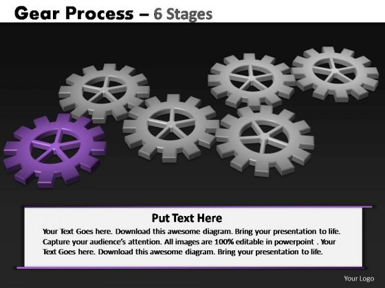 PowerPoint Template Process Gears Process Ppt Presentation Designs