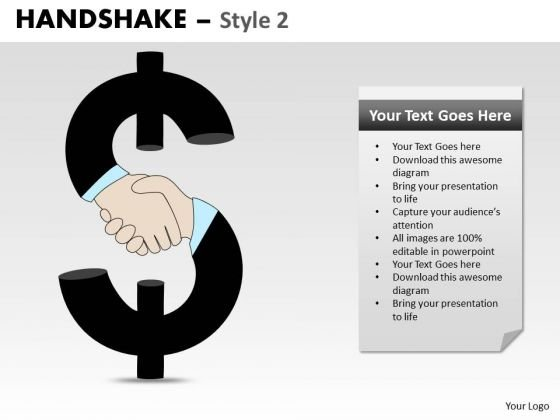 PowerPoint Template Process Handshake Ppt Slides