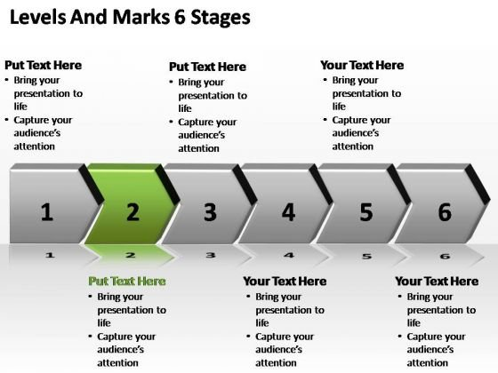 PowerPoint Template Process Levels And Marks Ppt Slide