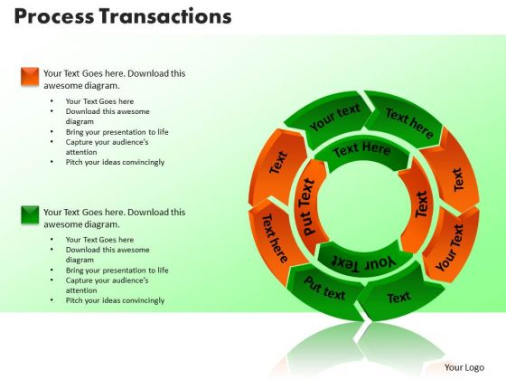 PowerPoint Template Process Transaction Marketing Ppt Design Slides