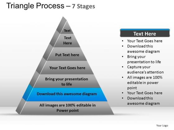 PowerPoint Template Process Triangle Process Ppt Slides