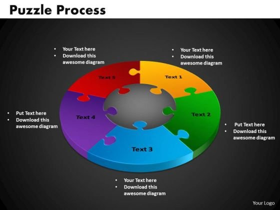PowerPoint Template Puzzle Process Business Ppt Slide