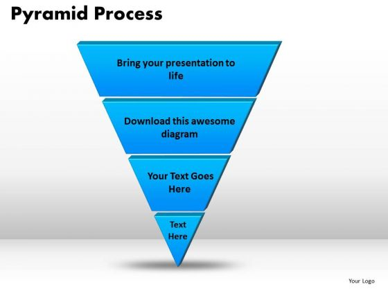 PowerPoint Template Pyramid Process Success Ppt Slide