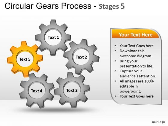 PowerPoint Template Sales Circular Gears Ppt Slide Designs