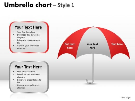 PowerPoint Template Sales Umbrella Chart Ppt Designs