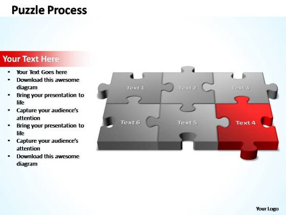 PowerPoint Template Strategy 3d Puzzle Process Ppt Slides