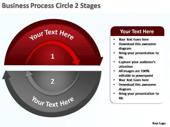 PowerPoint Template Strategy Business Process Circle Ppt Slides