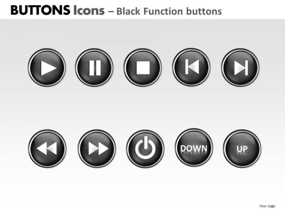 PowerPoint Template Strategy Buttons Icons Ppt Designs