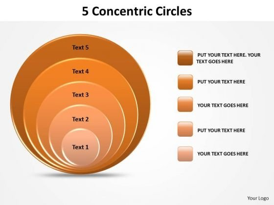 PowerPoint Template Strategy Concetric Circles Ppt Theme