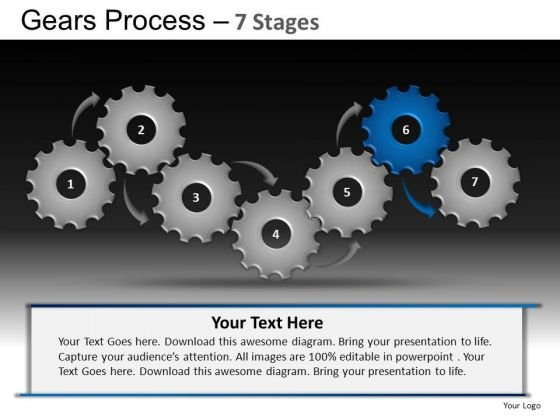PowerPoint Template Strategy Gears Process Ppt Theme