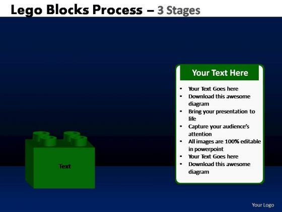 PowerPoint Template Strategy Lego Blocks Ppt Design Slides