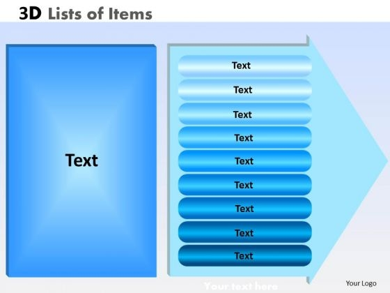 PowerPoint Template Strategy Lists Of Items Ppt Layouts
