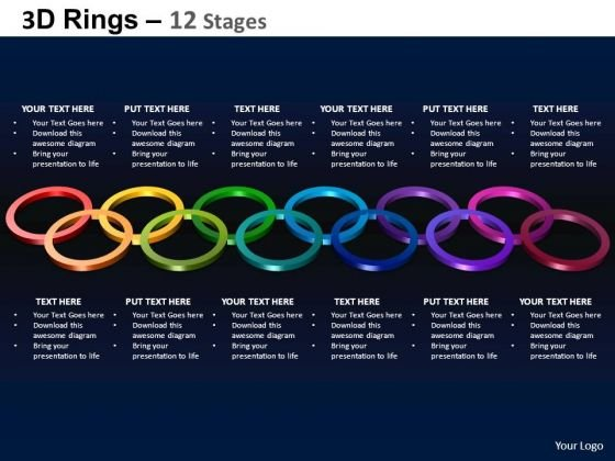PowerPoint Template Strategy Rings Ppt Theme