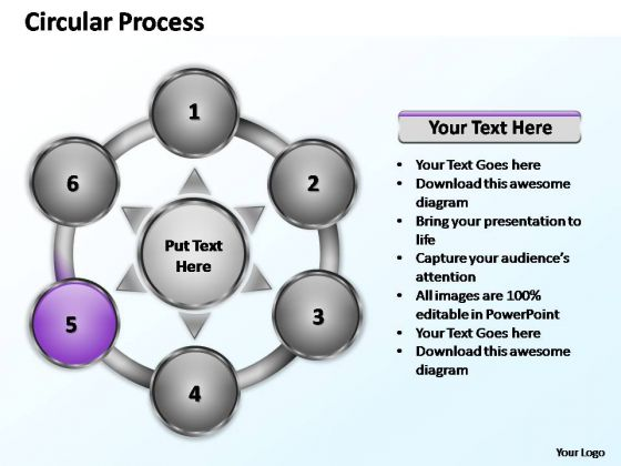 PowerPoint Template Strategy Six Elements Ppt Presentation
