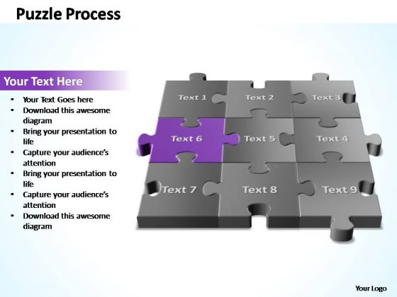 PowerPoint Template Success 3d Puzzle Process Ppt Slide
