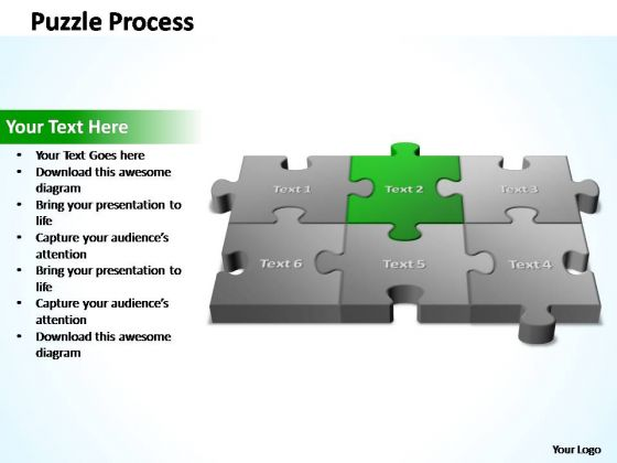 PowerPoint Template Success 3d Puzzle Process Ppt Slides