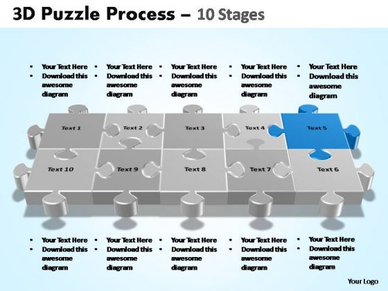 PowerPoint Template Success Puzzle Process Ppt Backgrounds