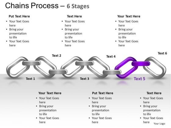 PowerPoint Template Teamwork Chains Process Ppt Template