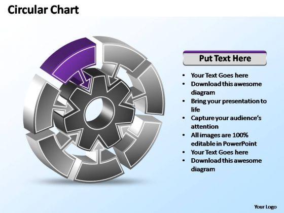PowerPoint Template Teamwork Interconnected Circular Chart Ppt Slides