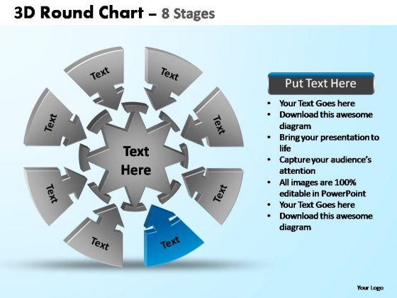 PowerPoint Template Teamwork Pie Chart With Arrows Ppt Slide Designs