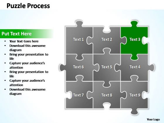 PowerPoint Template Teamwork Puzzle Ppt Process