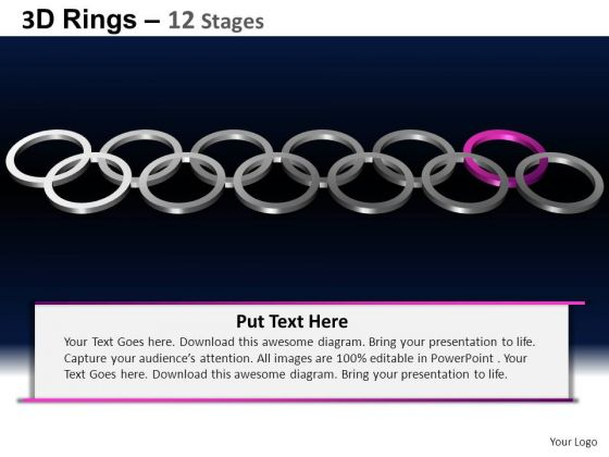 PowerPoint Template Teamwork Rings Ppt Design Slides