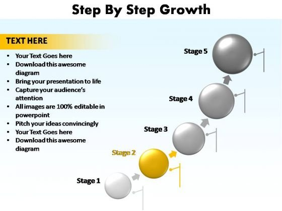 PowerPoint Template Teamwork Step Growth Ppt Slide