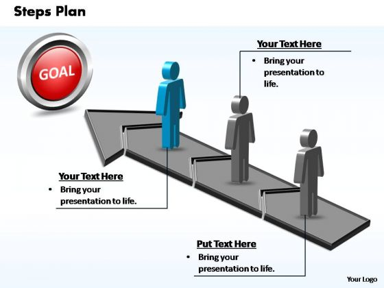 PowerPoint Template Teamwork Steps Plan 3 Stages Style 2 Ppt Template