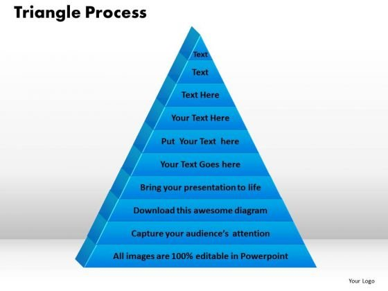 PowerPoint Template Triangle Process Success Ppt Presentation