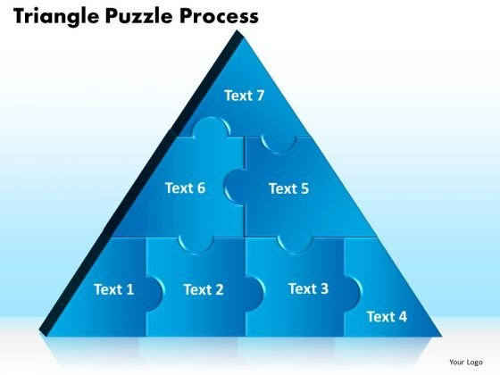 PowerPoint Template Triangle Puzzle Marketing Ppt Theme