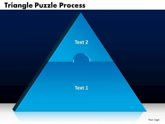 PowerPoint Template Triangle Puzzle Process Business Ppt Slides