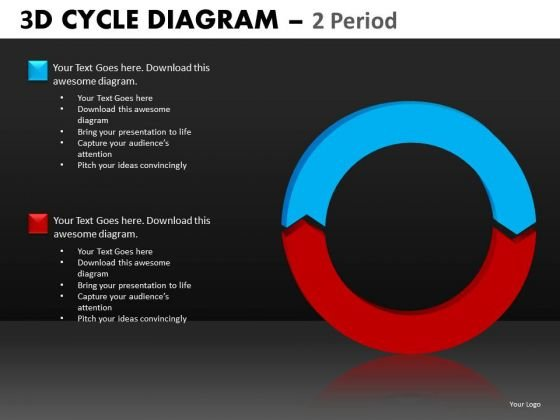 PowerPoint Templates 2 Period Cycle Diagram Ppt Slides
