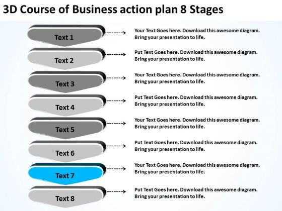 PowerPoint Templates Action Plan 8 Stages Free Business Plans – Example of an Action Plan Template