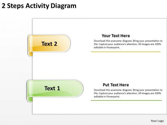 PowerPoint Templates Arrows 2 Steps Activuty Diagram