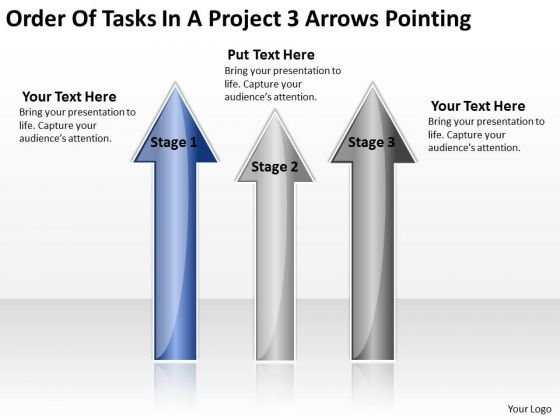 PowerPoint Templates Arrows Of Tasks Project 3 Pointing