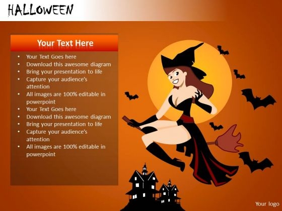 PowerPoint Templates Attractive Witch Broom Ppt Slides
