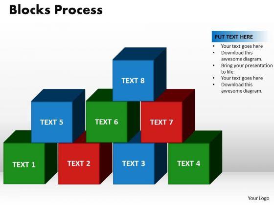 PowerPoint Templates Blocks Process Global Ppt Design Slides