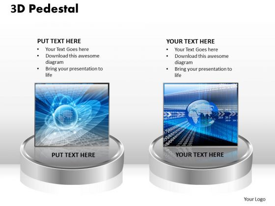 PowerPoint Templates Business 3d Pedestal Ppt Themes