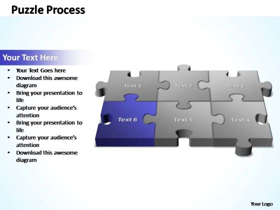PowerPoint Templates Business 3d Puzzle Process Ppt Slide