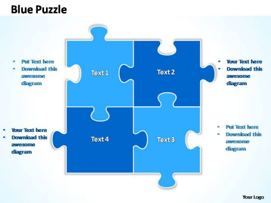 Powerpoint Templates Business Blue Jigsaw Puzzle Ppt Designs