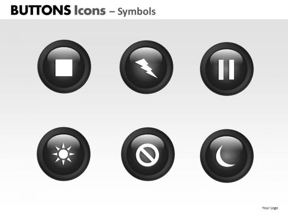 PowerPoint Templates Business Buttons Icons Ppt Presentation Designs